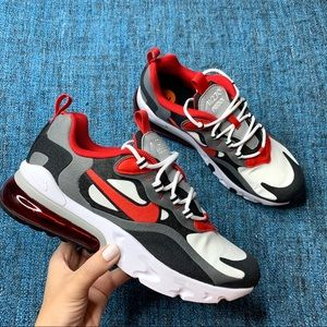 NWOT Nike Air Max 270 React Sneakers Grey Red